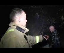 В результате пожара пострадала пожилая женщина