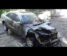 В Бендерах сгорел автомобиль