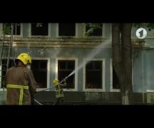 В Тирасполе загорелась бывшая станция юных туристов