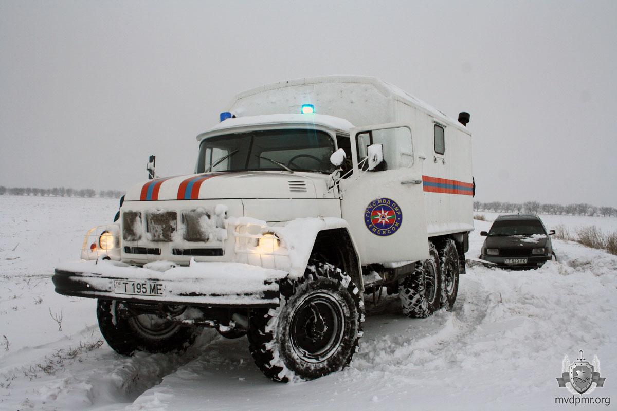 Спасение из снежного плена